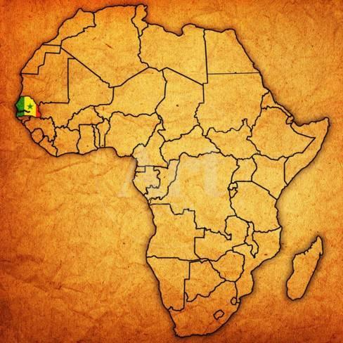 Senegal On Africa Map.Senegal On Actual Map Of Africa Posters By Michal812 At Allposters Com