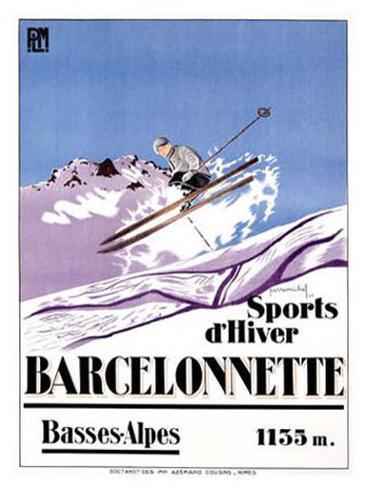 Barcelonnette Giclee Print
