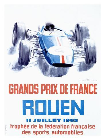 Rouen F1 Grand Prix, c.1965 Giclee Print