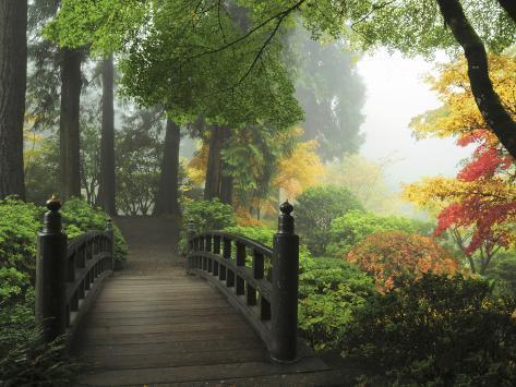 Portland Japanese Garden in Autumn, Portland, Oregon, USA Photographic Print