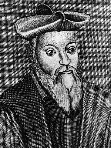 Michel Nostradamus (1503-155), French Physician and Astrologer, 17th Century Giclee Print