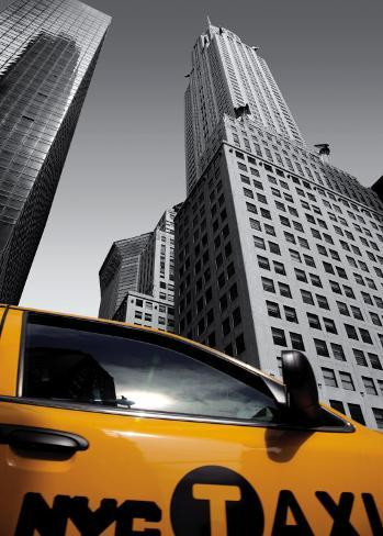 Chrysler Building, New York City Taxi Stampa artistica