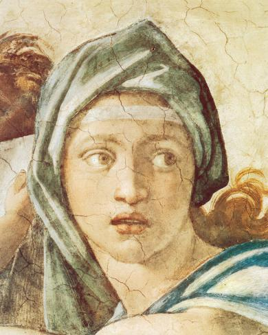 Chapel Sistine, The Delphic Sibyl Stretched Canvas Print