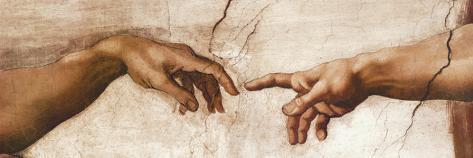 Creación de Adán Reproducción de lámina sobre lienzo