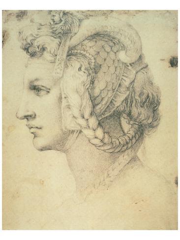 Dibujo de una mujer Lámina giclée prémium