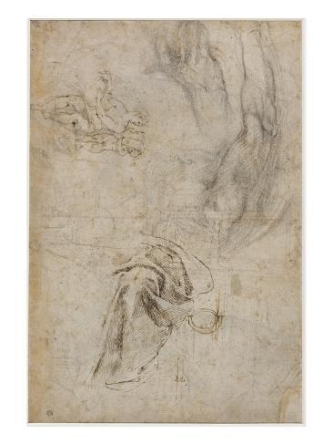 Scheme for the Decoration of the Ceiling of the Sistine Chapel, C.1508 Giclee Print