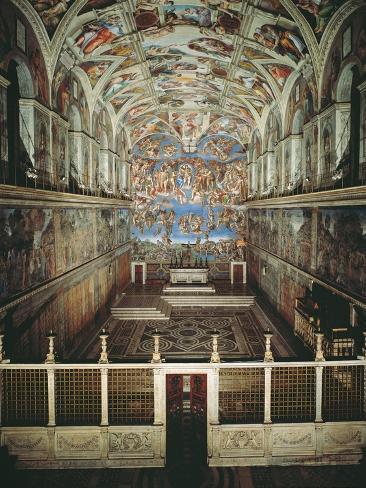 Sistine Chapel Ceiling and Last Judgment Fotografía