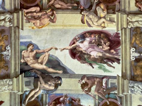 Sistine Chapel Ceiling, Creation of Adam, 1510 Giclee Print