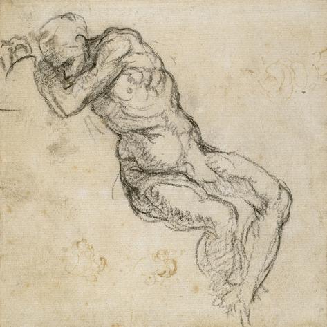 Study of a Male Nude, C.1511 Lámina giclée