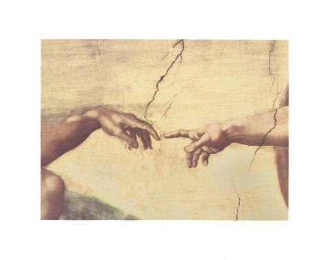 The Creation of Adam, c.1510 (detail) Art Print