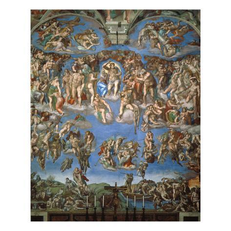 The Last Judgement, 1534-41 Giclee Print