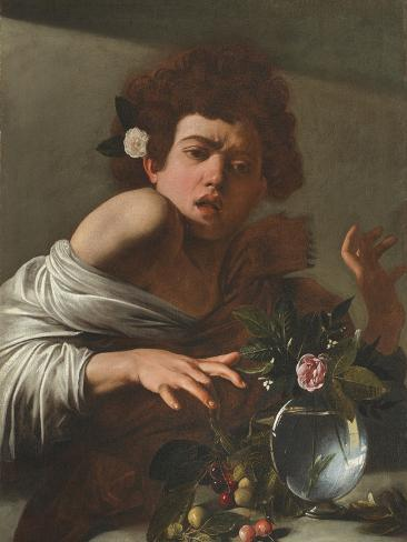 Boy Bitten by a Lizard, c.1595-1600 Lámina giclée