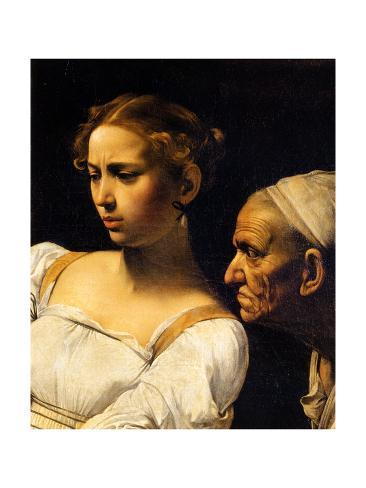Judith and an old servant, detail from Judith and Holofernes, 1598-99 Lámina giclée