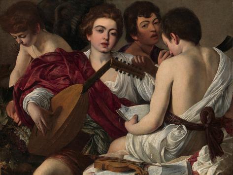 The Musicians, c.1595 Lámina giclée