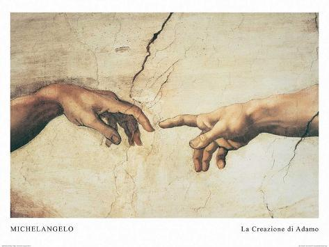 the creation of adam prints by michelangelo at allposters com au