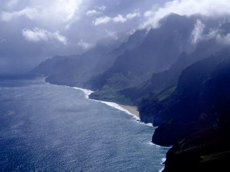 Na Pali Coast, Kauai, Hawaii Photographic Print
