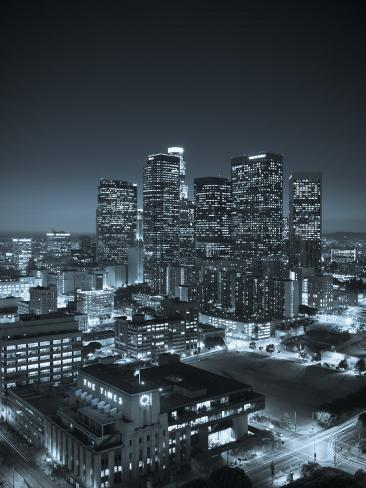 California, Los Angeles, Skyline of Downtown Los Angeles, USA Photographic Print