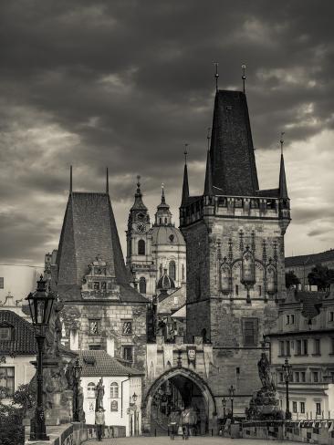 Czech Republic, Prague, Stare Mesto (Old Town), Little Quarter (Mala Strana) and Charles Bridge Photographic Print