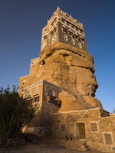 Dar Al Hajar, Wadi Dhar, Yemen Photographic Print