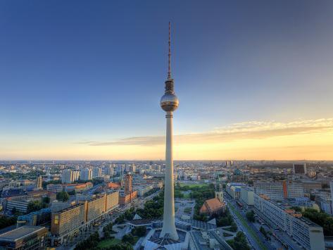 Germany, Berlin, Alexanderplatz, Tv Tower (Fernsehturm) Photographic Print