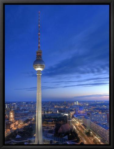 Germany, Berlin, Alexanderplatz, Tv Tower (Fernsehturm) Lienzo ...