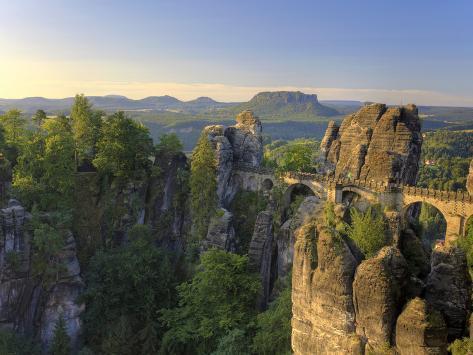 Germany, Saxony, Dresden, Saxon Switzerland National Park (Sachsische Schweiz) Photographic Print