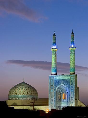 Jameh Mosque, Yazd, Iran Photographic Print