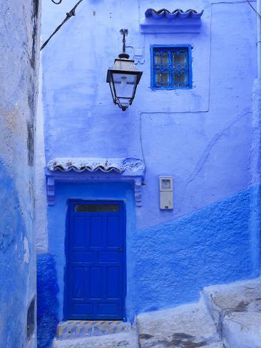 Morocco, Rif Mountains, Chefchaouen, Medina Photographic Print