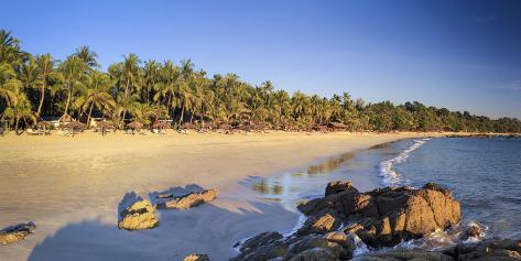 Myanmar (Burma), Rakhine State, Ngapali Beach Valokuvavedos