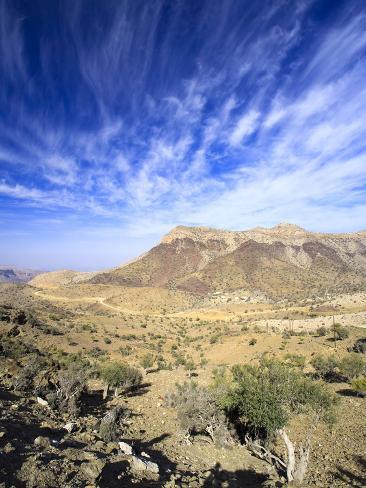 Oman, Hajjar Mountain Range, Jebel Shams Mountain Photographic Print