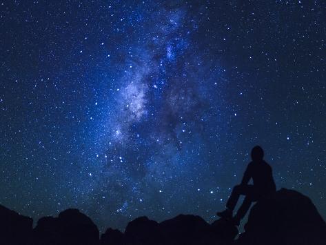 Usa Hawaii The Big Island Milky Way From Mauna Kea