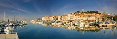 Vieux Port and Old Quarter of Le Suquet, Cannes, Cote D'Azur, France Photographic Print