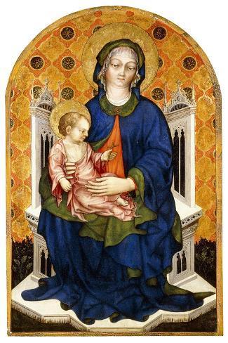 The Madonna and Child Enthroned Lámina giclée