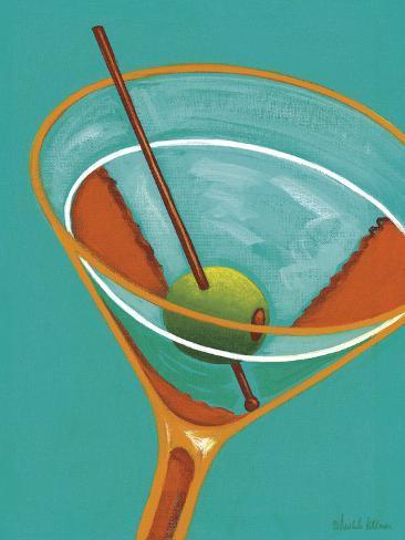 Sunglow Martini II Stretched Canvas Print