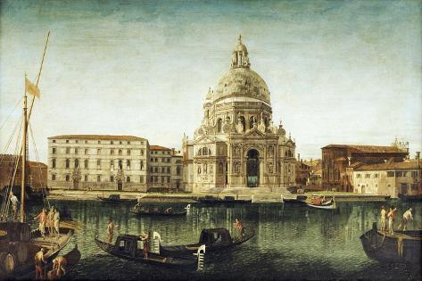 Santa Maria Della Salute, Venice, with Gondolas on the Grand Canal Giclee Print