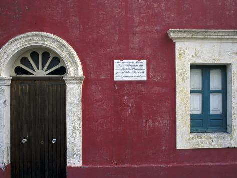 Historic House in Stromboli, Sicily, Italy Photographic Print