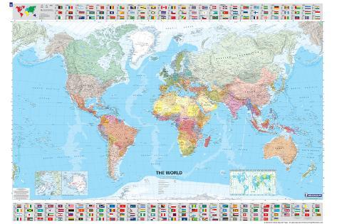 Michelin official world map with flags poster posters allposters michelin official world map with flags poster gumiabroncs Images