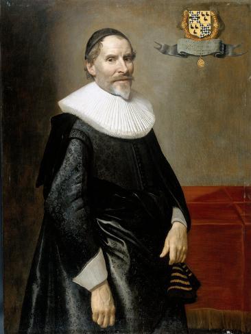 Portrait of Francois Van Aerssen, Lord of Sommelsdijk, De Plaat and Spijk Art Print