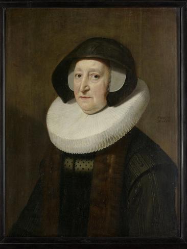 Portrait of Maria Petitpas Art Print