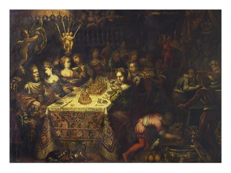 Belshazar's Feast Stretched Canvas Print