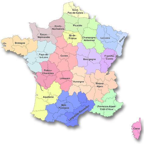 New Regions of France Art Print
