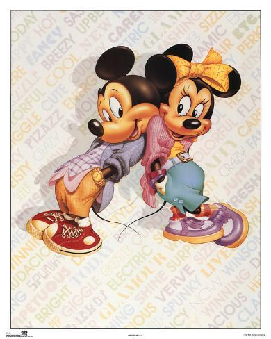 Mickey and Minnie Mouse Cool Mini Poster