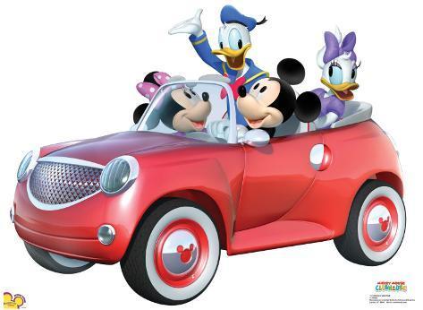 Mickey Car Ride Cardboard Cutouts