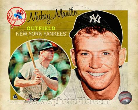 Mickey Mantle 2012 Studio Plus Photo