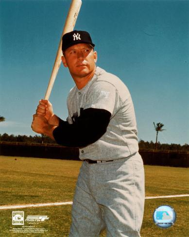 Mickey Mantle - #3 Posed Batting Photo