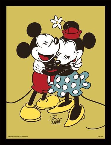 Mickey Minnie Mouse Ware Liefde Verzamelaarsprint Bij