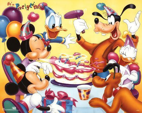 オールポスターズの mickey mouse and friends birthday party ポスター