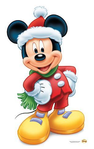 Mickey Mouse Christmas Lifesize Standup Figura de cartón en ...