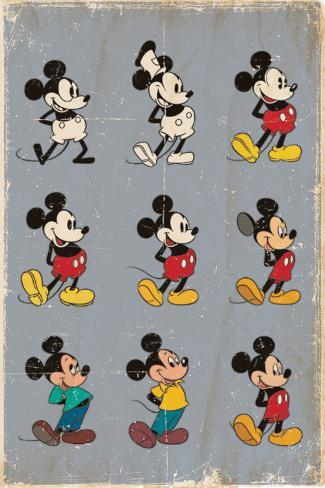 Mickey Mouse Evolution Posters Allposters Co Uk