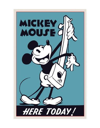 Mickey Mouse Here Today! Art Print